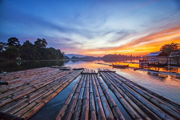 Pemandangan di Situ Gede, Tasikmalaya, Jawa Barat.