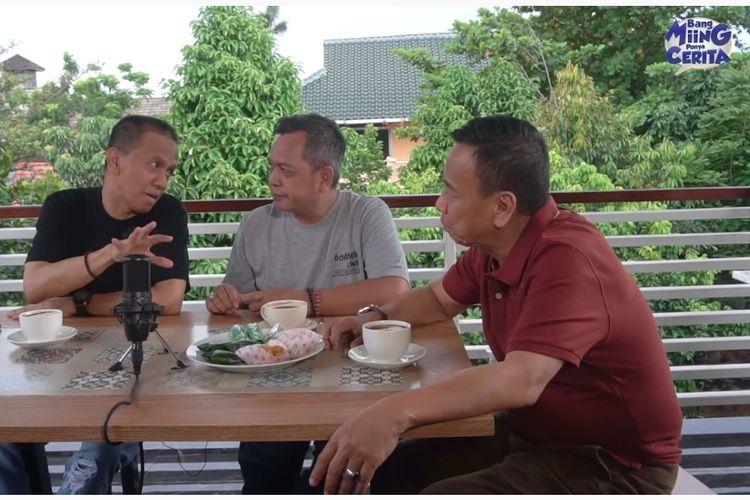 Grup lawak Bagito, (dari kiri) Didin, Unang, dan Miing