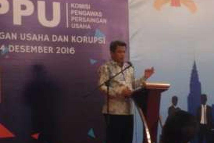 Ketua Komisi Persaingan Usaha (KPPU) Syarkawi Rauf di kawasan Kuningan, Jakarta, Rabu (14/12/2016)
