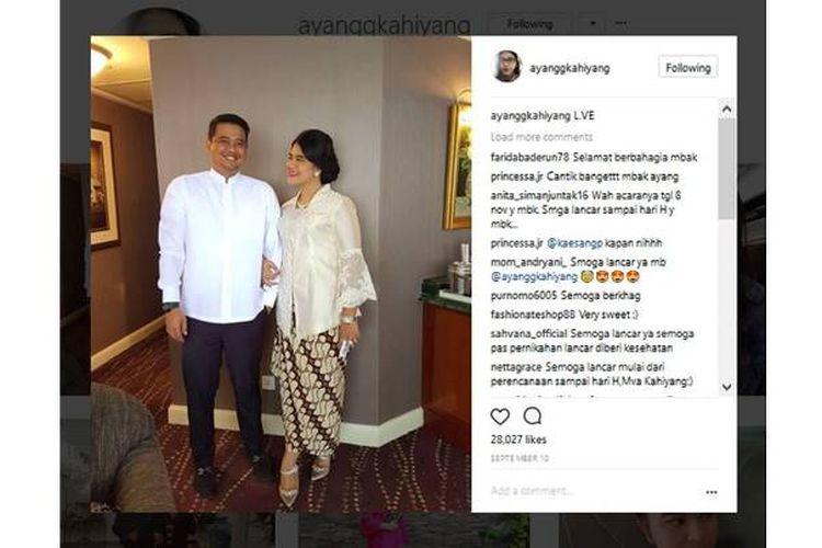 Puteri Presiden Joko Widodo, Kahiyang Ayu, akan menikah pada 8 November 2017.
