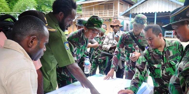 Ilustrasi TNI di Papua