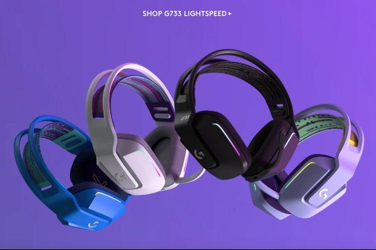Headset gaming nirkabel Logitech G733 Lightspeed.