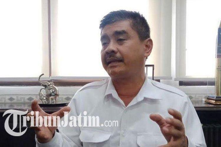Dirut PDAM Surya Sembada Surabaya Mujiaman saat ditemui TribunJatim.com di kantornya, Senin (9/3/2020).