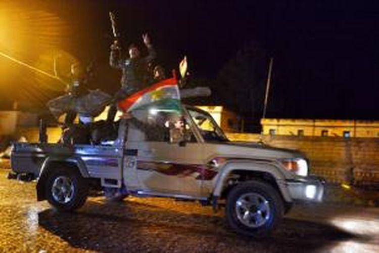 Pasukan Peshmerga Kurdi tengah menuju ke perbatasan Turki-Suriah.
