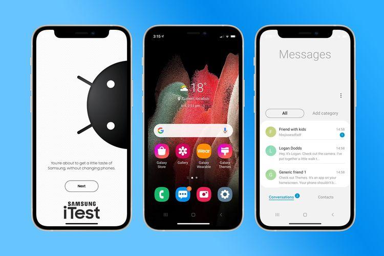 Fitur baru untuk pengguna iPhone bernama Samsung iTest