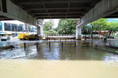 Underpass Taman Cibodas, Kota Tangerang, Dilanda Banjir Setinggi 80 Cm