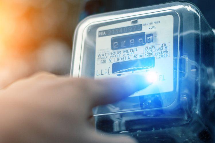 Ilustrasi listrik, meteran listrik. PLN token gratis atau token listrik gratis dalam program stimulus PLN listrik gratis Maret 2021