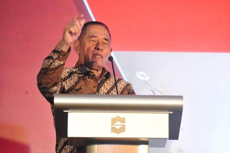 Menteri Pertahanan (Menhan) Ryamizard saat menghadiri acara silaturahim dan halal bihalal bertema ?Rekat Anak Bangsa, Menuju Indonesia Sejuk?, Kamis (27/6/2019) di Jakarta