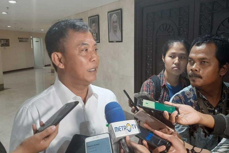 Ketua DPRD DKI Jakarta Prasetio Edi Marsudi di lantai 3, Gedung DPRD DKI, Jakarta Pusat, Senin (17/2/2020)