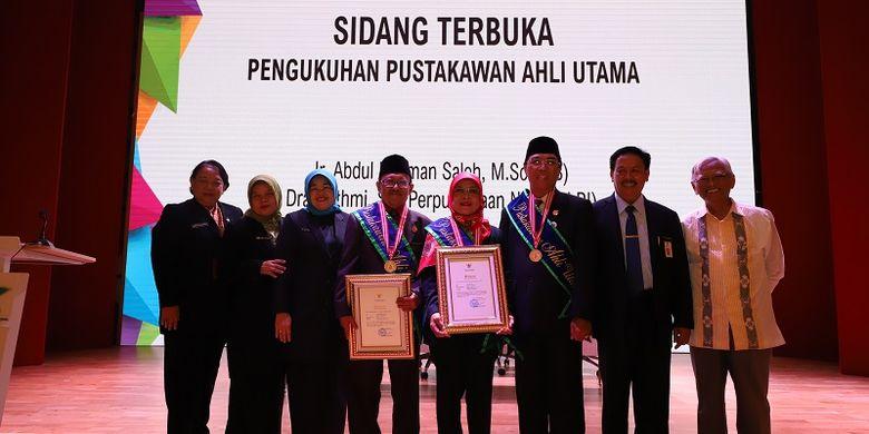 Perpusnas mengukuhkan Pustakawan Utama pada Jumat (10/10/2019)