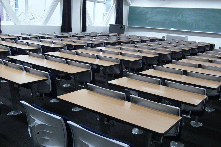 Ilustrasi. Ruang kelas Kansai University, Jepang