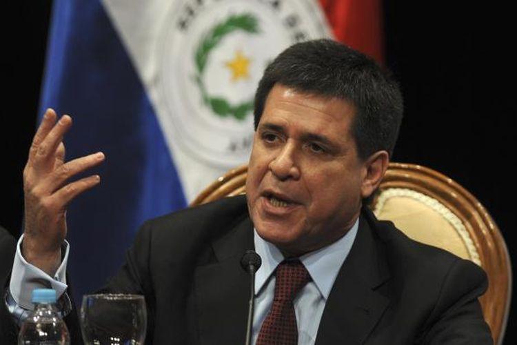 Presiden Paraguay, Horacio Cartes.