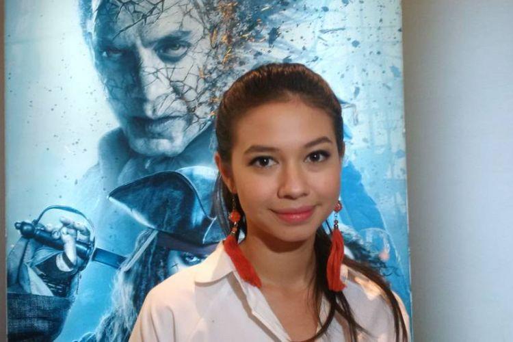 Yuki Kato menghadiri screening film Caribbean: Salazars Revenge di XXI Gandaria City, Jakarta Selatan, Senin (22/5/2017).