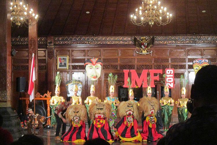 Pertunjukan IMF 2019 di Pendopo Gedi Balaikota Surakarta Jumat(05/07/2019)-