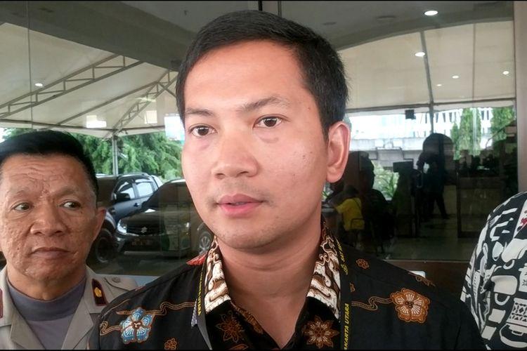 Kasat Reskrim Polres Metro Jakarta Utara Kompol Wirdhanto Hadicaksono memberi keterangan di Mapolres Metro Jakarta Utara, Jumat (6/12/2019)