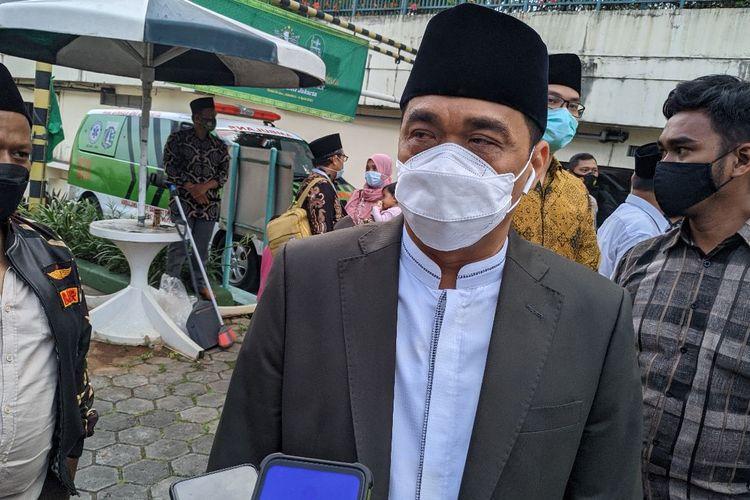Wakil Gubernur DKI Jakarta Ahmad Riza Patria saat ditemui di acara Konwil PBNU DKI Jakarta Hotel Sultan Residence Jakarta Pusat, Jumat (2/4/2021)