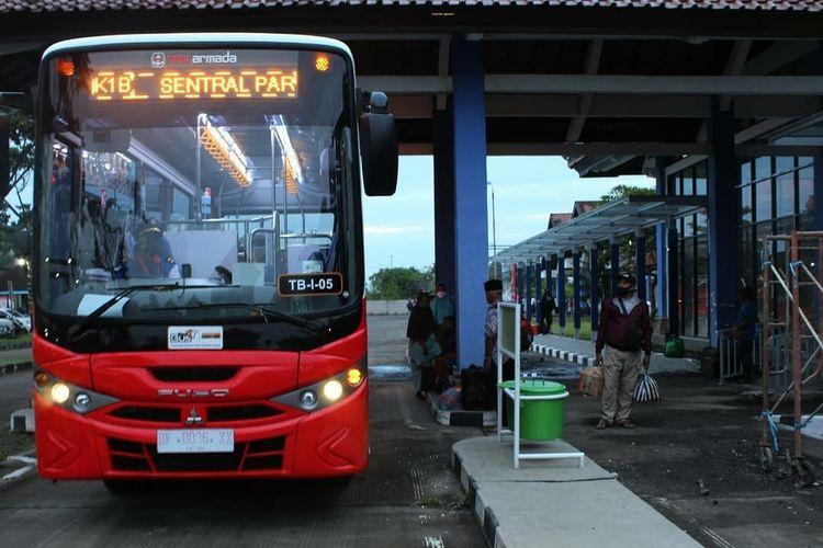 Situasi di Terminal Mengwi Kabupaten Badung