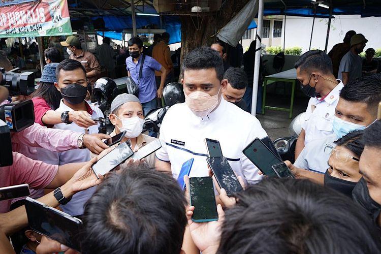 Wali Kota Medan Muhammad Bobby Afif Nasution di Jalan Agus Salim, Medan, Jumat (07/05/2021).