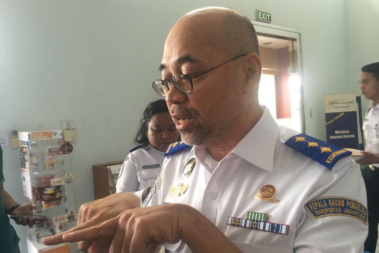 Kepala Badan Pengelola Transportasi Jabodetabek (BPTJ) Bambang Prihartono saat ditemui di Cikarang, Jumat (20/10/2017).