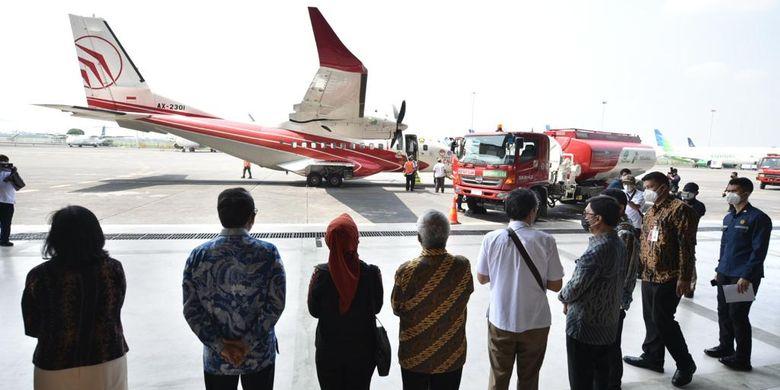 Hmmm, Sejarah Baru, Uji Terbang Perdana Pesawat CN235 Pakai Bahan Bakar Bioavtur