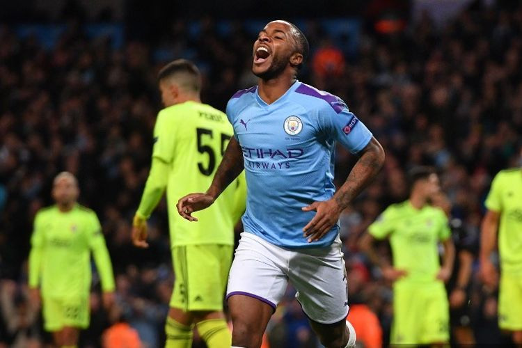 Manchester City Vs Dinamo Zagreb Aksi Sterling Menangkan The Citizens Halaman All Kompas Com
