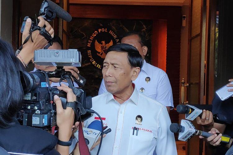 Menteri Koordinator Bidang Politik, Hukum, dan Keamanan ( Menko Polhukam), Wiranto,di kantor Kemenko Polhukam, Jakarta Pusat, Rabu (21/8/2019).