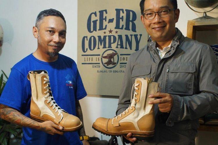 Sepatu hasil kolaborasi Gubernur Jawa Barat Ridwan Kamil dan GR Company.