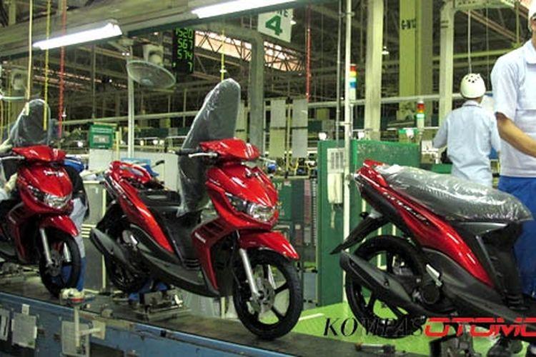 Pabrik Yamaha di Karaawang ini mampu memproduksi sepeda motor 7.500 sehari.