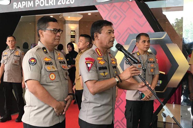 Kapolri Jenderal (Pol) Idham Azis di PTIK, Jakarta Selatan, Rabu (29/1/2020).
