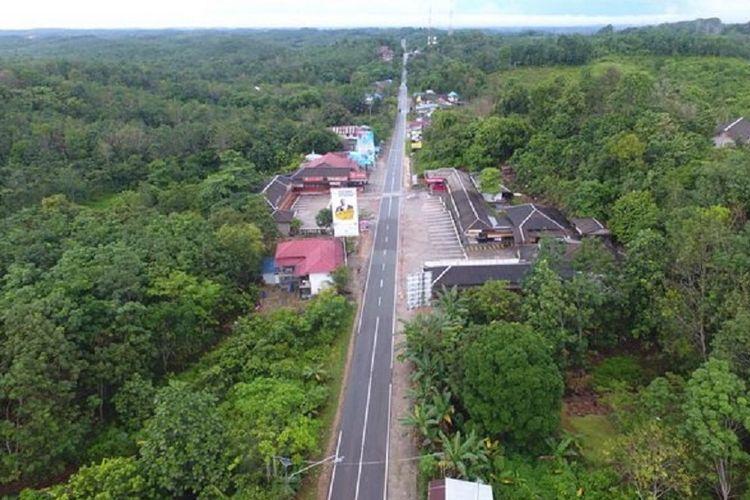 Kawasan hutan Bukit Soeharto, kilometer 50, Jl Poros Balikpapan-Samarinda, Kalimantan Timur, Minggu (1/7/2018).