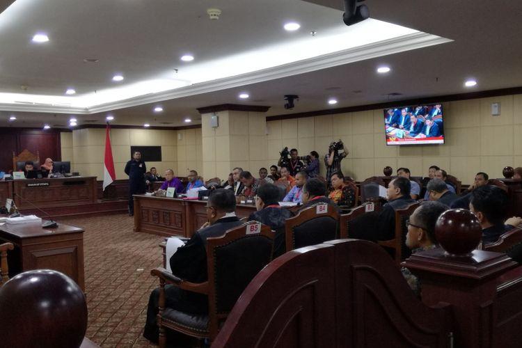 Sidang Lanjutan Perselisihan Hasil Pemilihan Gubernur Papua Tahun 2018 di Mahkamah Konstitusi, Jakarta, Selasa (31/7/2018)