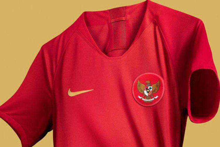 Jersey kandang baru timnas Indonesia.