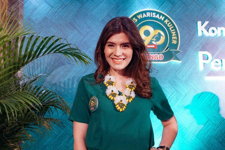 Artis peran Carissa Putri saat ditemui di kawasan Kuningan, Jakarta Selatan, Selasa (6/2/2018).