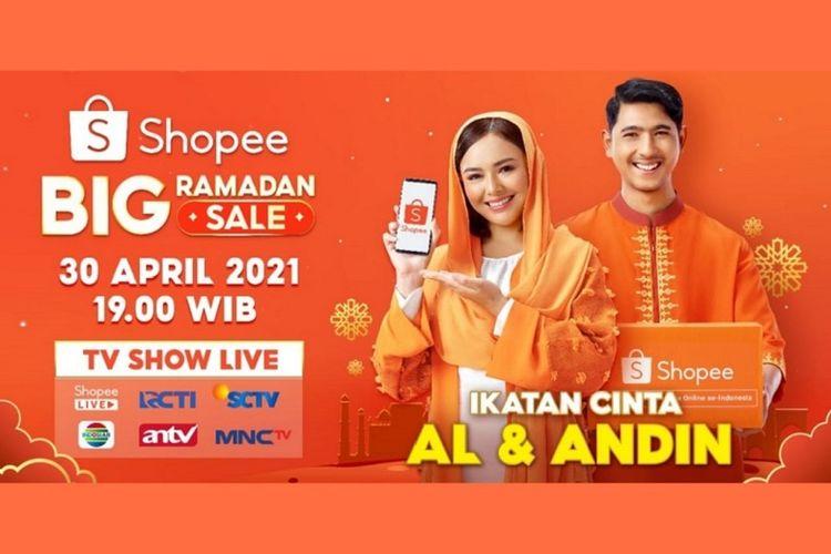 Sebagai brand ambassador terbaru Shopee, Arya Saloka dan Amanda Manopo, akan memeriahkan acara televisi bertajuk Shopee Big Ramadhan Sale TV Show.