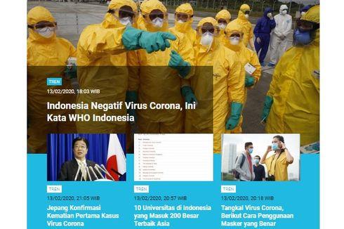 [POPULER TREN] Indonesia Negatif Corona | Daftar Universitas Terbaik di Asia