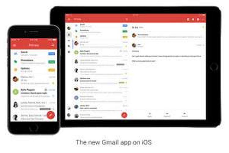 Gmail untuk iOS diperbaru.