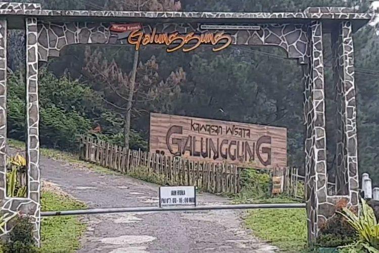 Kawasan Objek Wisata Galunggung, Kabupaten Tasikmalaya.