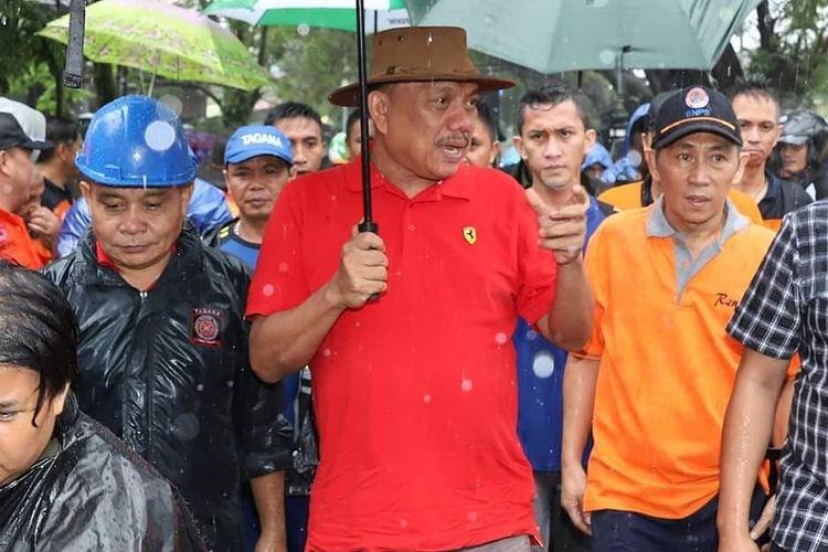 Sekprov Edwin Silangen dan sejumlah pejabat teras Pemprov Sulut, termasuk Ketua Tim Staf Khusus Gubernur, Pdt Lucky Rumopa Iwan MTh menemaninya Gubernur Olly saat itu.