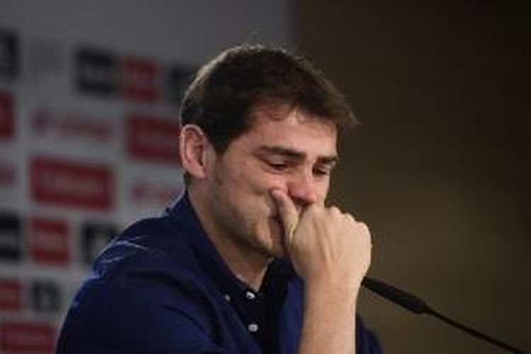 Penjaga gawang Iker Casillas mengucapkan perpisahan kepada Real Madrid pada Minggu (12/7/2015).