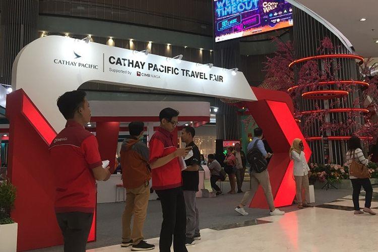 Suasana Cathay Pacific Travel Fair 2020 di lipo puri mall
