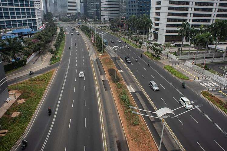 Jalan Jenderal Sudirman, Jakarta, Minggu (11/8/2019).