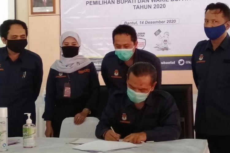 Rapat Pleno Terbuka Rekapitulasi Hasil Penghitungan Suara Dalam Pilkada Bantul