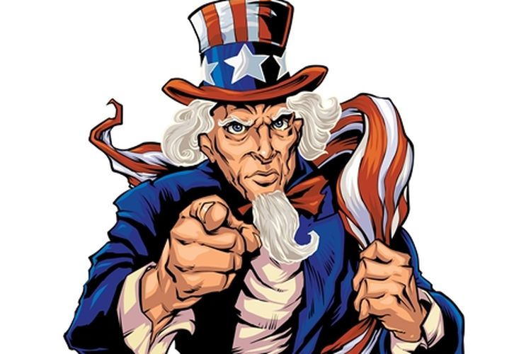 Uncle Sam atau Paman Sam.