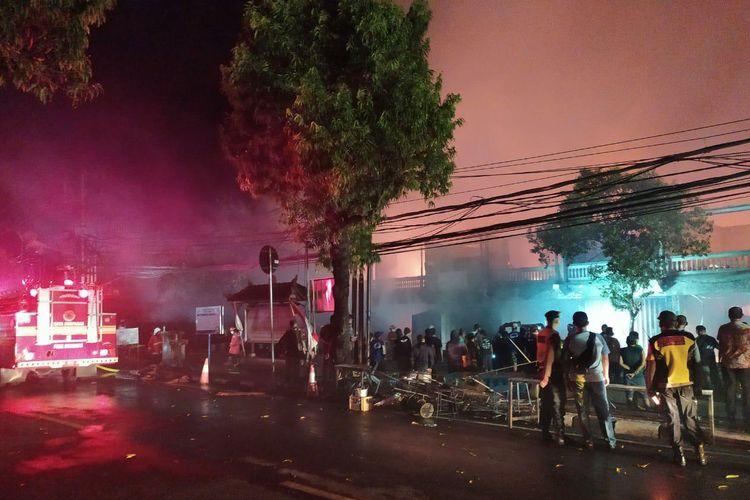 Kebakaran terjadi di Pasar Umum Blahbatuh Gianyar, Bali.