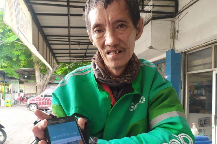 Audy Hamdani (59), driver ojol warga Tlogosari Kulon, Kecamatan Pedurungan, Kota Semarang