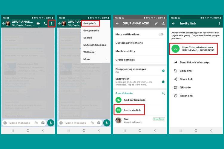 Cara membuat link WhatsApp untuk masuk ke dalam grup