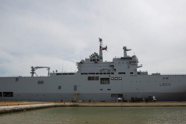Kapal perang Perancis Dixmude berlayar di Kepulauan Spratly, Laut China Selatan, akhir Mei lalu.