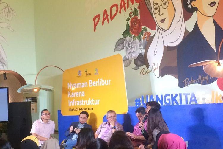 Acara #UangKitaTalk: Nyaman Berlibur Karena Infrastruktur, Jakarta, Jumat (28/2/2020).