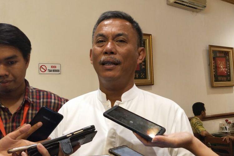 Ketua DPRD DKI Jakarta Prasetio Edi Marsudi di kawasan Menteng, Jakarta Pusat, Jumat (15/2/2019).