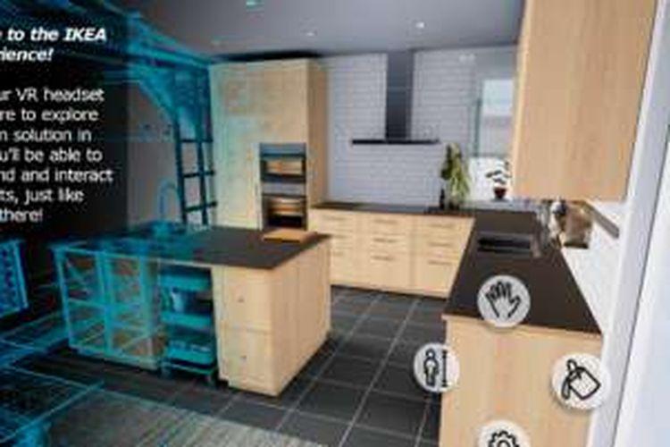 Tampilan dapur dalam Ikea VR Experience